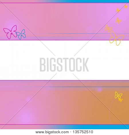 soft colored abstract background with butterfly