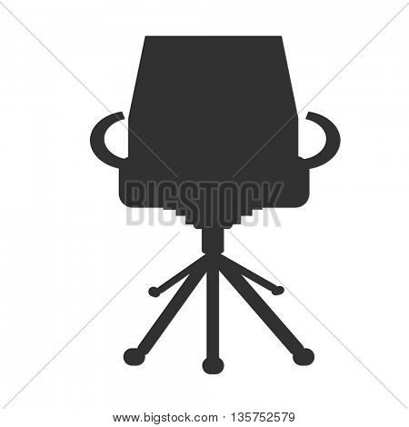 modern armchair silhouette icon