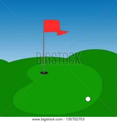 Golf outdoor scene