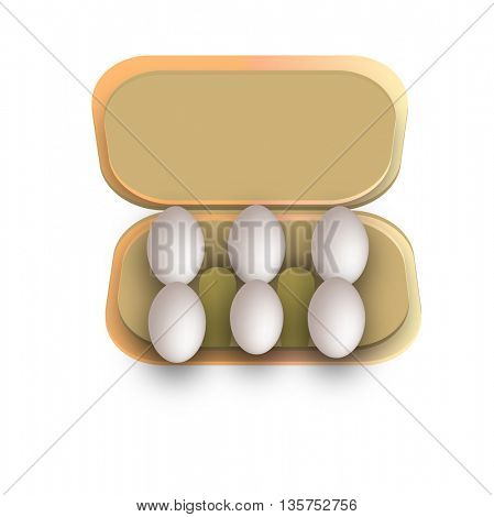 Six eggs in container