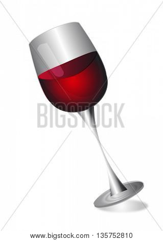 Wine glass isolated on white background