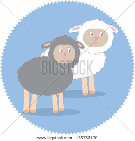 Nice cartoon sheep