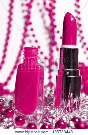 nail polish and lipstick
