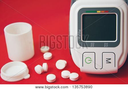 Blood pressure device and pills