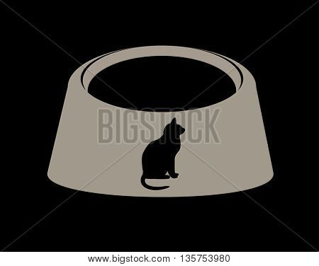 Empty  pet cat food bowl dish