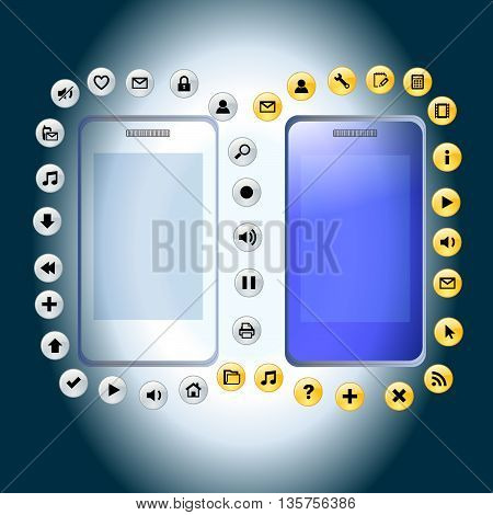 Smartphone illustration design ,mobile icon, cellular icon
