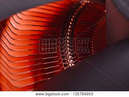 Copper CPU Cooler Extra close - up