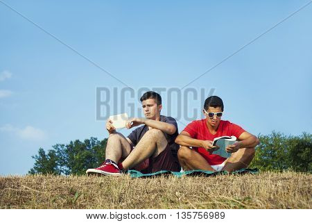Group Of Students Learning Outdoor