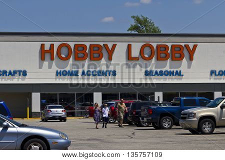 Indianapolis - Circa June 2016: Hobby Lobby Retail Location. Hobby Lobby is a Privately Owned Christian Principled Company I