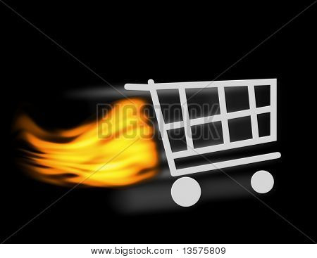 An illustration of a shopping cart