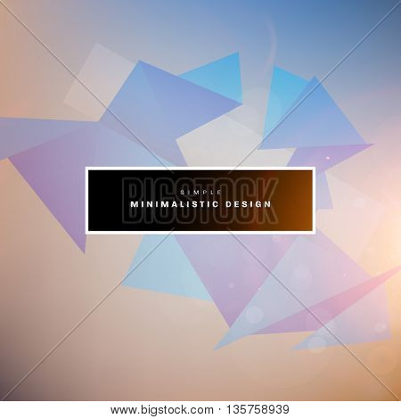 Geometric Vector Background. Triangles Pattern for Business Presentations, Application Cover and Web Site Design