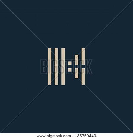 Unusual geometric letter K. Architecture vector logo. Isolated monogram