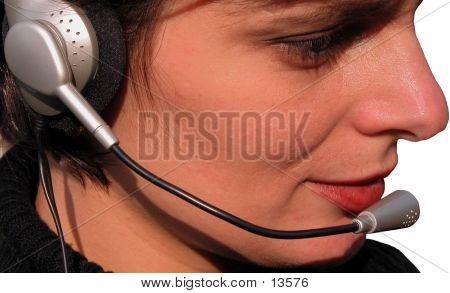 Mädchen-Operator