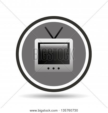 old tv drawing isolated icon design, vector illustration graphic
