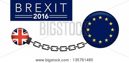Brexit Uk Referendum 2016 Chain Link Graphic