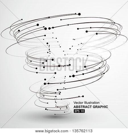 Vector Tornado, Points and curves, Abstract graphics.