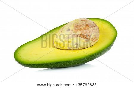 Avocado Isolated On The White Background