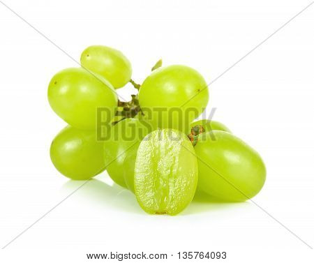 Green Grape Isolated On A White Background