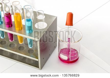 science laboratory test tubes laboratory pipette wiith test tube