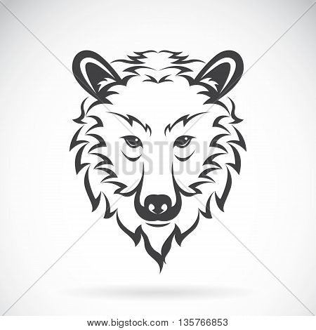 Vector images of bear head on a white background. Vector bear head for your design.