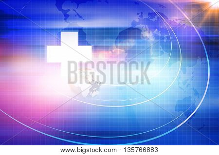 Medical Abstract Background; Blue Abstract Background Suitable for Healthcare and Medical Topic