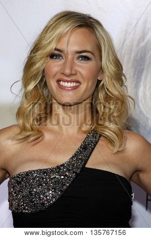 Kate Winslet at the World premiere of 'Revolutionary Road' held at the Mann Village Theater in Westwood, USA on August 15, 2008.
