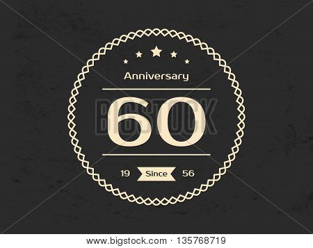 Sixty  years anniversary celebration logotype. 60th anniversary logo.