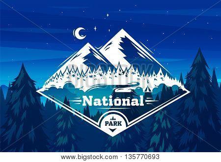 Park landscape. Vector design illustration for web design development, natural landscape graphics.