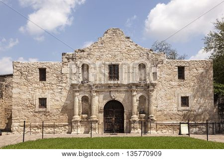 The Alamo Mission in San Antonio. Texas United States
