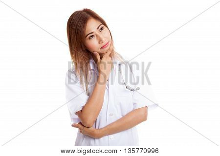 Thoughtful, Young Asian Female Doctor