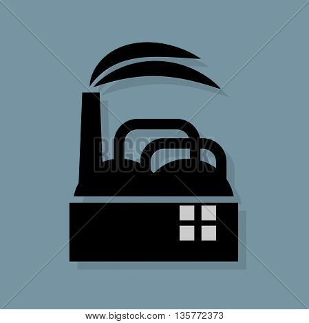 Abstract Factory icon or sign, vector illustration