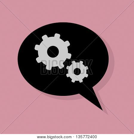 Abstract Cogs icon or sign, vector illustration