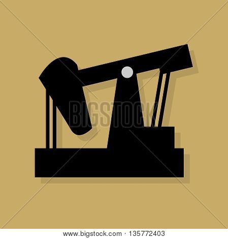 Abstract Oil industry icon or sign, vector illustration