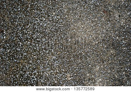 Surface gravel cement floor texture for background.