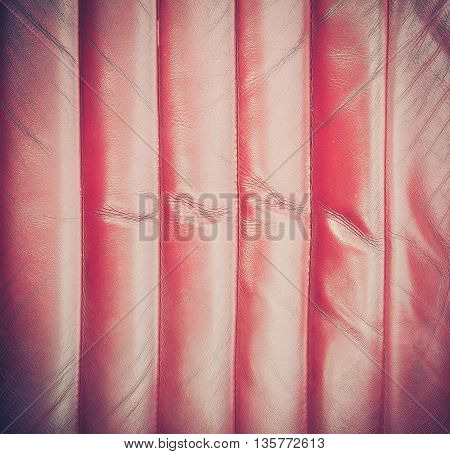 Vintage red leather texture with cross process effect