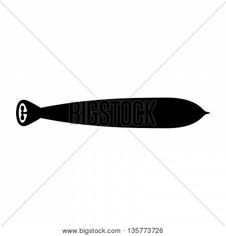 Torpedo ( shade picture ) on white background