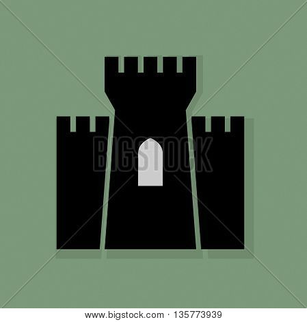 Abstract Castle icon or sign, vector illustration