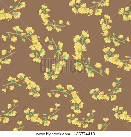 Seamless vector background. Sakura branches. Background for scrapbooking wallpapers etc.