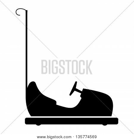 Bumper car in profile ( shade picture )