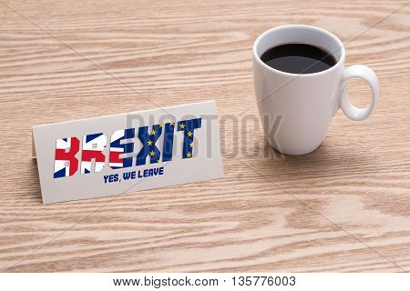 BREXIT. Conceptualize idea for Britain leaves Europe.