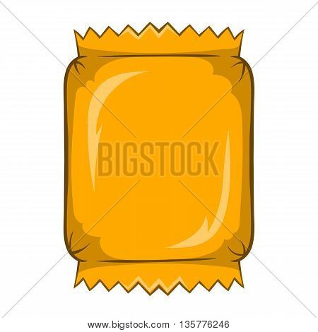 Packaging for chocolate icon in cartoon style isolated on white background. Production and packaging symbol