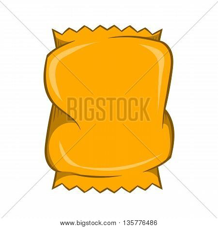 Crumpled packaging icon in cartoon style isolated on white background. Production and packaging symbol