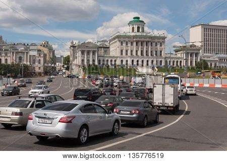 Moscow, Russia - June 24, 2016: Pashkov House On Vagankovsky Hill
