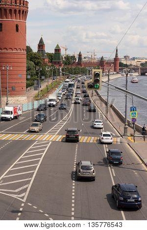 Moscow, Russia - June 24, 2016: Kremlin Embankment