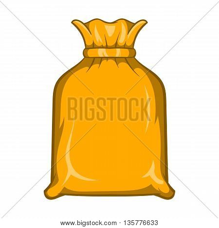 Packing bag icon in cartoon style isolated on white background. Production and packaging symbol