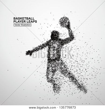 Basketball player leaps, Vector illustration, Positive implication