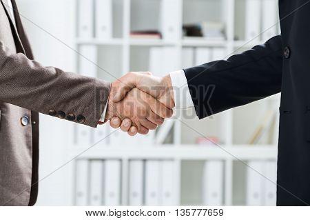 Businessmen Handshake Closeup