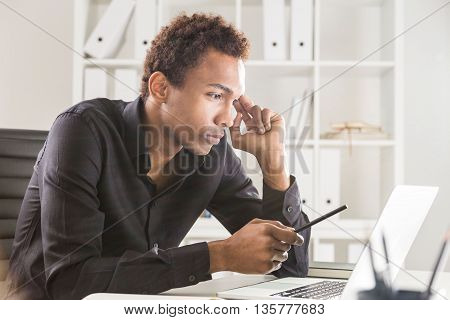 Thinking Man Working On Project
