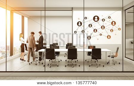 Social Network In Meeting Room