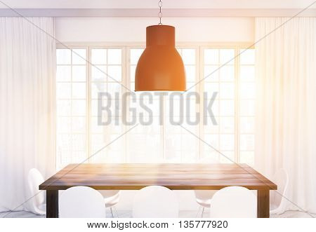 Lamp And Kitchen Table Toning